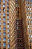 Ansicht an den Bürogebäuden Stockbild