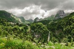 Ansicht an den Bergen in Spanien Stockfoto