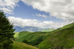 Ansicht an den Bergen in Spanien Stockbilder