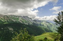 Ansicht an den Bergen in Spanien Lizenzfreie Stockfotos
