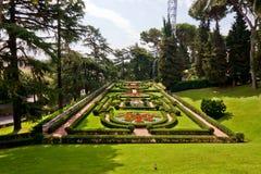 Ansicht an den Vatican-Gärten Stockbilder