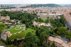 Ansicht an den Vatican-Gärten Stockfoto