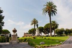Ansicht an den Vatican-Gärten lizenzfreies stockfoto
