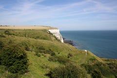 Ansicht an den weißen Klippen von Dover Lizenzfreies Stockfoto