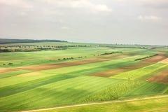 Ansicht der üppigen grünen Felder lizenzfreie stockbilder