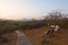 Ansicht der Aarey-Milch-Kolonie, Mumbai lizenzfreie stockbilder