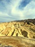 Ansicht der Abtragungslandschaft in Zabriskie-Punkt - Death Valley, Kalifornien Lizenzfreies Stockfoto