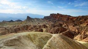 Ansicht der Abtragungslandschaft in Zabriskie-Punkt - Death Valley, Kalifornien Lizenzfreie Stockbilder