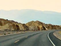 Ansicht der Abtragungslandschaft in Zabriskie-Punkt - Death Valley, Kalifornien Stockfotografie