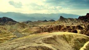 Ansicht der Abtragungslandschaft in Zabriskie-Punkt - Death Valley, Kalifornien Stockbild