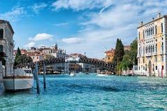 Ansicht der Accademia-Brücke in Venedig, Italien Lizenzfreie Stockfotografie