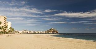 Ansicht der Aguilas-Stadt schauend Nord Stockbilder