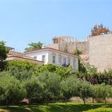 Ansicht der Akropolises Lizenzfreies Stockbild
