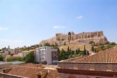 Ansicht der Akropolises Lizenzfreie Stockfotografie
