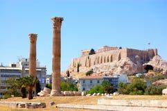 Ansicht der Akropolises, Athen stockbild