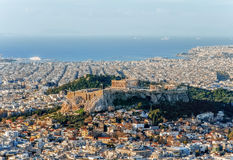 Ansicht der Akropolises in Griechenland Lizenzfreies Stockfoto