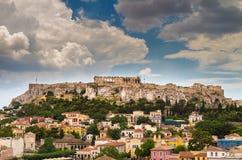 Ansicht der Akropolises, Parthenon, Athen Lizenzfreie Stockbilder