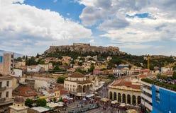 Ansicht der Akropolises, Parthenon, Athen, Griechenland Stockfotografie