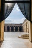 Ansicht der Al-Hakim Moschee stockfotos