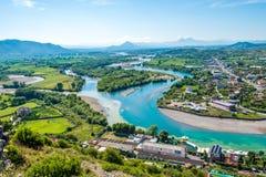 Ansicht an der albanischen Natur Lizenzfreies Stockfoto
