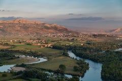 Ansicht an der albanischen Natur von Rozafa-Schloss, Shkodra stockfoto