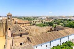 Ansicht der Alcazar-und Kathedralen-Moschee von Cordoba Lizenzfreie Stockfotografie
