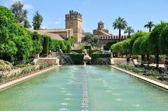 Ansicht der Alcazar-und Kathedralen-Moschee von Cordoba Lizenzfreie Stockfotos