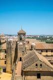 Ansicht der Alcazar-und Kathedralen-Moschee von Cordoba, Spanien Lizenzfreie Stockbilder