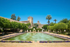 Ansicht der Alcazar-und Kathedralen-Moschee von Cordoba, Spanien Stockbild