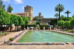 Ansicht der Alcazar-und Kathedralen-Moschee von Cordoba, Spanien Lizenzfreie Stockfotos