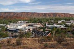 Ansicht der Alice- Springsstadt stockbild