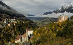 Ansicht der Alpen Lizenzfreie Stockfotos