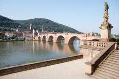 Ansicht der alten Brücke in Heidelberg, Deutschland Lizenzfreie Stockfotografie