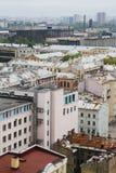 Ansicht der alten europäischen Stadt von der Höhe des Fluges des Vogels St Petersburg, Russland, Nordeuropa Stockfoto