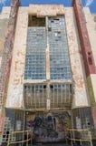 Ansicht der alten Fassade in Curaçao mit seiner einzigartigen Architektur Lizenzfreie Stockfotografie
