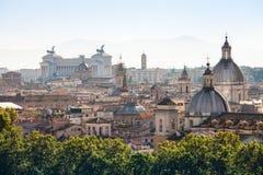 Ansicht der alten Mitte von Rom auf Capitoline-Hügel Stockbild