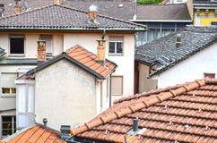 Ansicht der alten Stadt Bellinzona stockbild