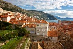 Ansicht der alten Stadt, Dubrovnik lizenzfreie stockfotografie