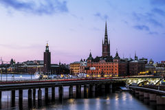 Ansicht der alten Stadt Gamla Stan in Stockholm schweden Lizenzfreies Stockbild