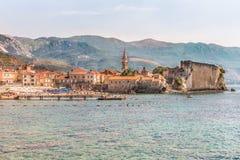 Ansicht der alten Stadt und der Zitadelle, Budva, Montenegro Die Balkan, das adriatische Meer, Europa Stockbild
