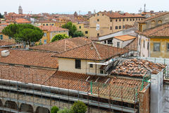 Ansicht der alten Stadt vom lehnenden Turm pisa Stockbild