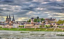 Ansicht der alten Stadt von Blois und Loire - Frankreich Lizenzfreie Stockbilder