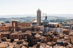 Ansicht der alten Stadt von Siena, Italien lizenzfreie stockfotografie