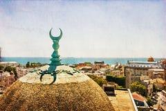 Ansicht der alten Stadtmitte Constanta Stockbilder