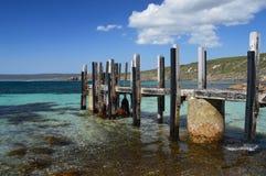 Ansicht der Anlegestelle an den Kanal-Felsen in Schalter Australien Lizenzfreie Stockfotografie