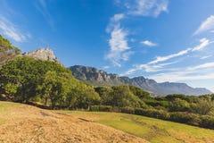 Ansicht der 12 Apostel in Cape Town mit blauem Himmel Lizenzfreie Stockfotos