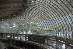 Ansicht der Architekturstruktur die Haube die Shoppes bei Marina Bay Stockbild