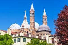 Ansicht der Basilika von Santa Giustina von Padua, Italien Stockfoto