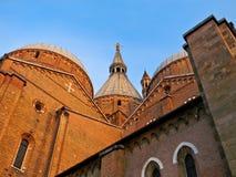 Ansicht der Basilika von Str. Anthony in Padua Stockfotos