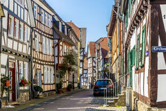 Ansicht der berühmten alten Stadt von Lich Lizenzfreies Stockbild